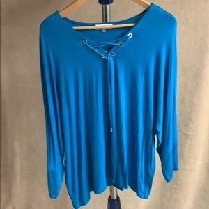 Calvin Klein turquoise 3/4-sleeve top